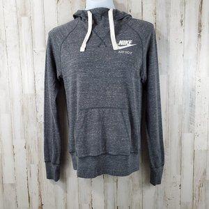 Nike Womens Hoodie S Gray Vintage Gym ZP7